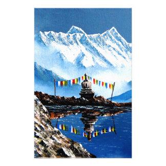 Vue panoramique de montagne Népal d'Annapurna Papeterie