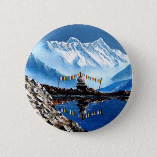 Vue panoramique de montagne Népal d'Annapurna Pin's