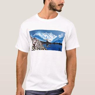 Vue panoramique de montagne Népal d'Annapurna T-shirt