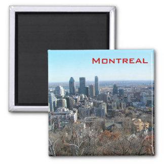 Vue panoramique de Montréal Magnet Carré
