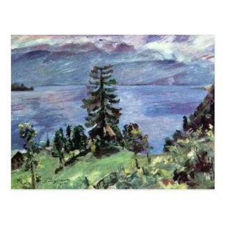 Vue panoramique de Walchensee du pupitre par Corin Carte Postale