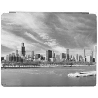 Vue panoramique d'horizon de Chicago en hiver Protection iPad