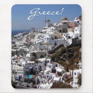 Vue panoramique d'Oia, Grèce Tapis De Souris