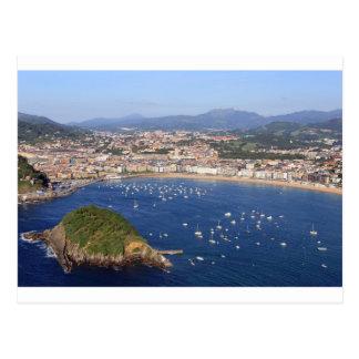 Vue pittoresque de beau littoral de San Sebastian Carte Postale