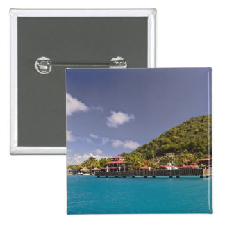 Vue pittoresque de Vierge de club de yacht de fin  Badge Carré 5 Cm
