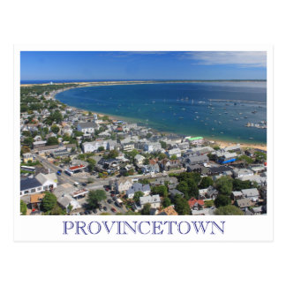 Vue Provincetown Cape Cod de monument de pèlerin Carte Postale