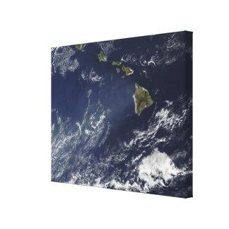 Vue satellite de brouillard volcanique toiles