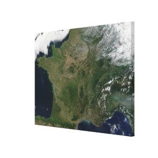 Vue satellite de la France Toiles