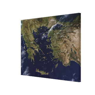 Vue satellite de la Grèce et de la Turquie Toiles