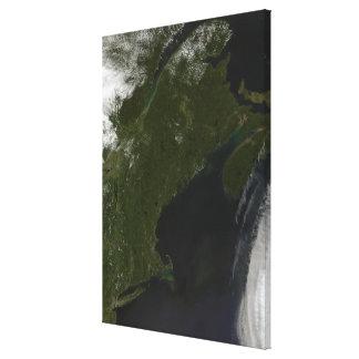Vue satellite de la Nouvelle Angleterre Toiles