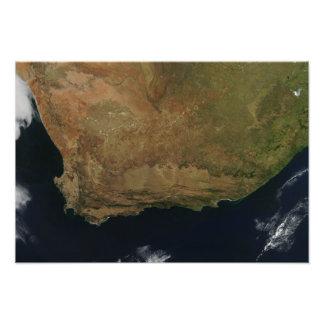 Vue satellite de l'Afrique du Sud Photographie D'art