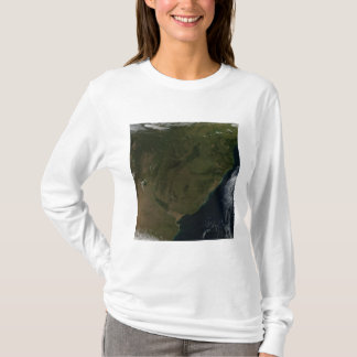 Vue satellite de l'Amérique du Sud T-shirt