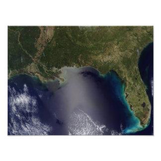 Vue satellite de l'état uni du sud-est impressions photo