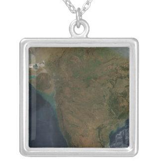 Vue satellite de l'Inde centrale Pendentif Carré