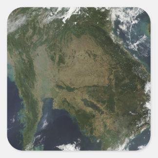 Vue satellite de l'Indochine Sticker Carré