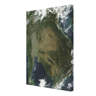 Vue satellite de l'Indochine Toiles