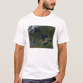 Vue satellite des Great Lakes T-shirt