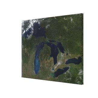 Vue satellite des Great Lakes Toiles