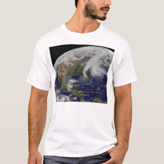 Vue satellite d'ouragan Sandy T-shirt