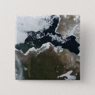 Vue satellite du Canada du nord-ouest Pin's