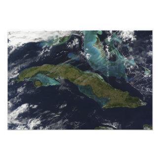 Vue satellite du Cuba Photo