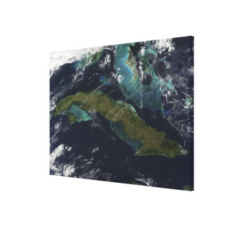 Vue satellite du Cuba Toiles