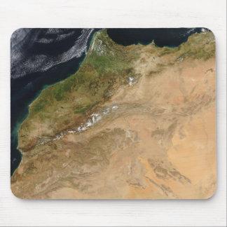 Vue satellite du Maroc Tapis De Souris