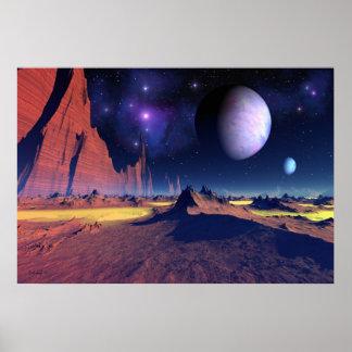 Vue stellaire - affiche d'art de l'espace
