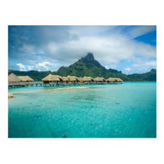 Vue sur la carte postale d'île de Bora Bora