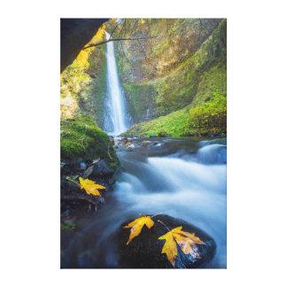 Vue verticale de panorama des automnes de tunnel impression sur toile