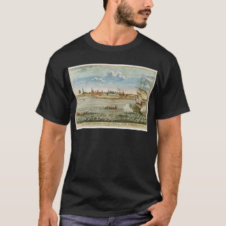 Vue vintage de ville de New-York du commutateur T-shirt