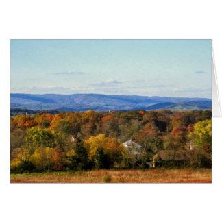 Vues d'octobre du Ridge bleu Mtns. carte vierge