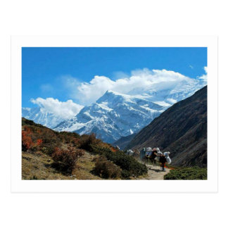 Vues du Népal sur le chemin au MONT EVEREST Carte Postale