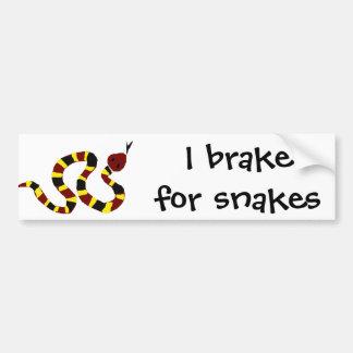 VW art coloré de primitif de serpent Autocollant De Voiture