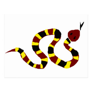 VW art coloré de primitif de serpent Cartes Postales
