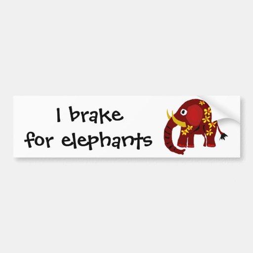 VW art de primitif d'éléphant et de marguerites Autocollant Pour Voiture