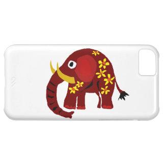 VW art de primitif d'éléphant et de marguerites Coque iPhone 5C
