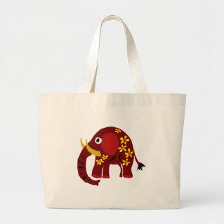 VW art de primitif d'éléphant et de marguerites Sac