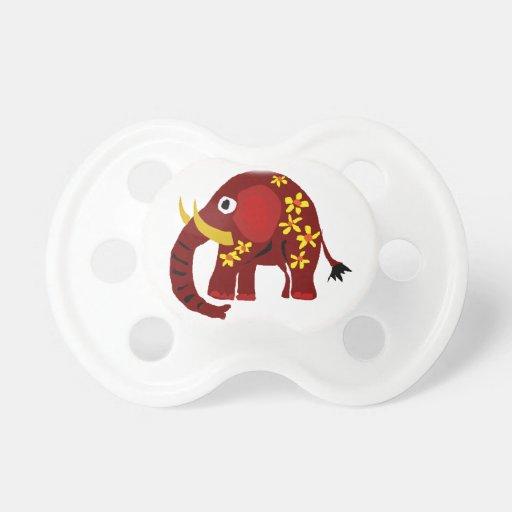 VW art de primitif d'éléphant et de marguerites Tétines