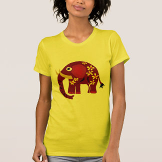 VW art de primitif d'éléphant et de marguerites T-shirt