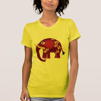 VW art de primitif d'éléphant et de marguerites T-shirts