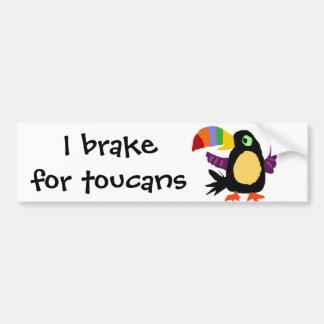 VW art drôle de primitif d'oiseau de toucan Autocollant De Voiture