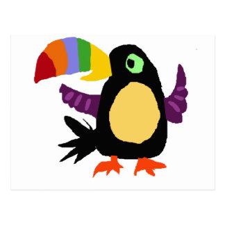 VW art drôle de primitif d'oiseau de toucan Cartes Postales