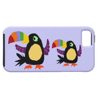VW art drôle de primitif d'oiseau de toucan Coques iPhone 5