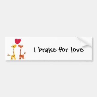 VW bande dessinée drôle d'amour de girafe Autocollant De Voiture