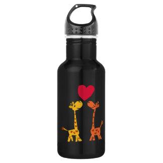VW bande dessinée drôle d'amour de girafe