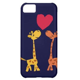 VW bande dessinée drôle d'amour de girafe Coque iPhone 5C