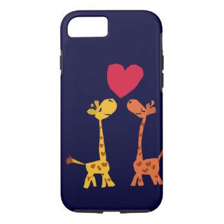 VW bande dessinée drôle d'amour de girafe Coque iPhone 7