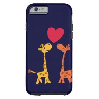 VW bande dessinée drôle d'amour de girafe Coque Tough iPhone 6