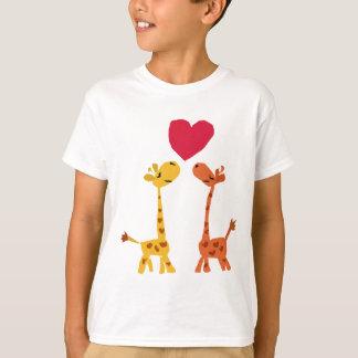 VW bande dessinée drôle d'amour de girafe T-shirt